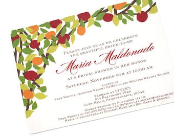 Autumn Tree Invitation, modern and rustic, customizable