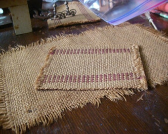 Three Woven Antique Doll House Rugs