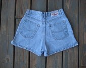 SALE- Vintage high rise Breaker blue jeans shorts size 9/10 waist 28