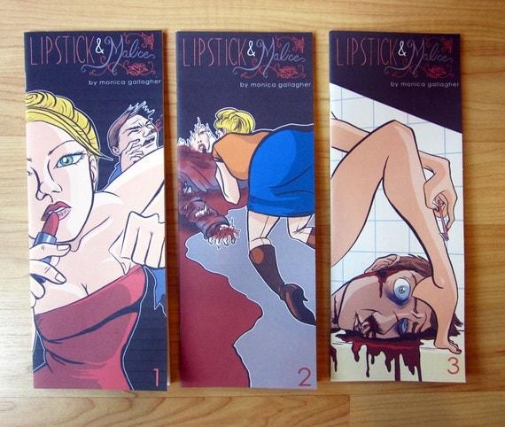Comic Book // Female Assassin // Lipstick & Malice Collection