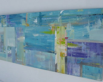 Abstract Painting on Wood, Landscape Painting,Large Painting