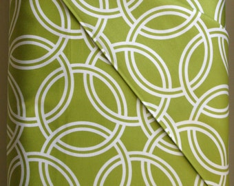Swirl in Kiwi in Cotton Sateen from the Bekko Collection  by Michael Miller Fabrics - ONE YARD CUT
