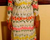 Vintage Maxi Dress/Party Dress/Dinner Party/Hostess Dress/Size 12