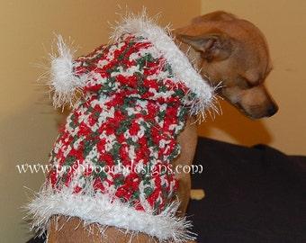 Christmas Dog Hoodie - Christmas Dog Hoody - Small Dog Sweater -