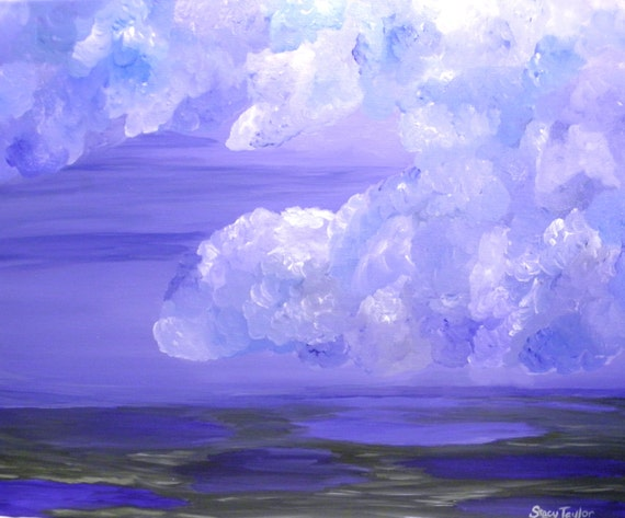 Art, stormy skies, blue ocean, original painting, storms