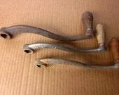 Three Vintage Metal Crank Handles