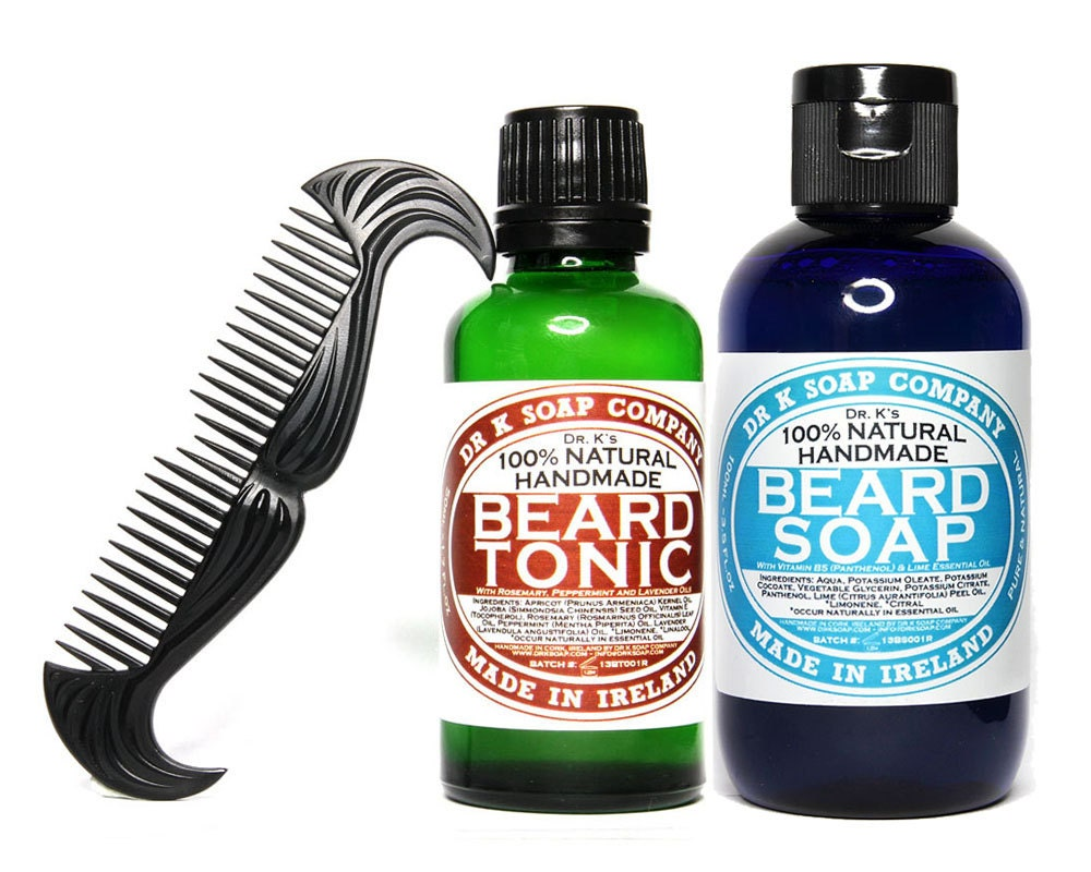 deluxe beard care set all natural and handmade in ireland. Black Bedroom Furniture Sets. Home Design Ideas