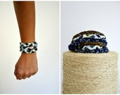 Wrap Around Braided Bracelet Recycled Fabric Accessories - Made To Order