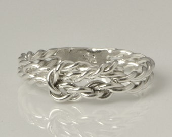 Infinity Knot Ring - Promise Ring - Thumb Ring - Love Knot Ring - Silver Ring - Handmade - Infinity Jewelry - Wedding