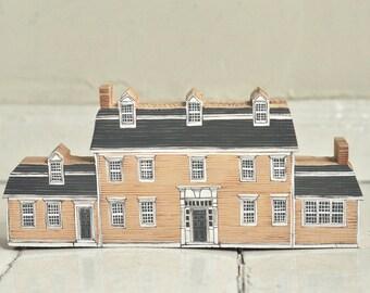 portrait house - your custom listing - Hand painted wooden house, miniature house, hand painted house, decorative miniature house, village