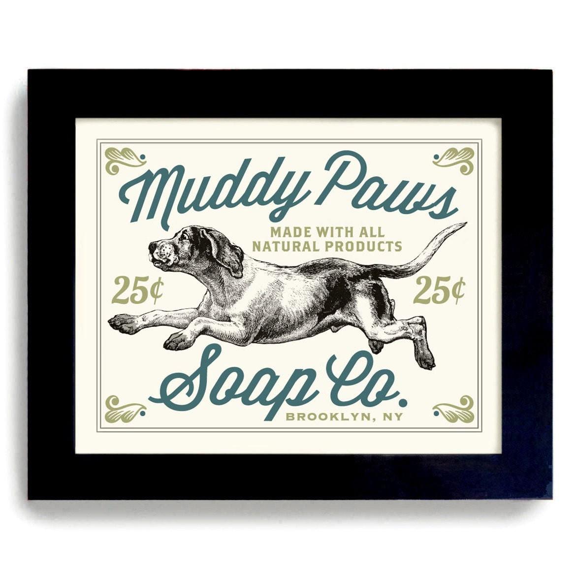 Laundry Room Signs Decor: Laundry Room Decor Dog Art Sign Bathroom Wall Art Mud By
