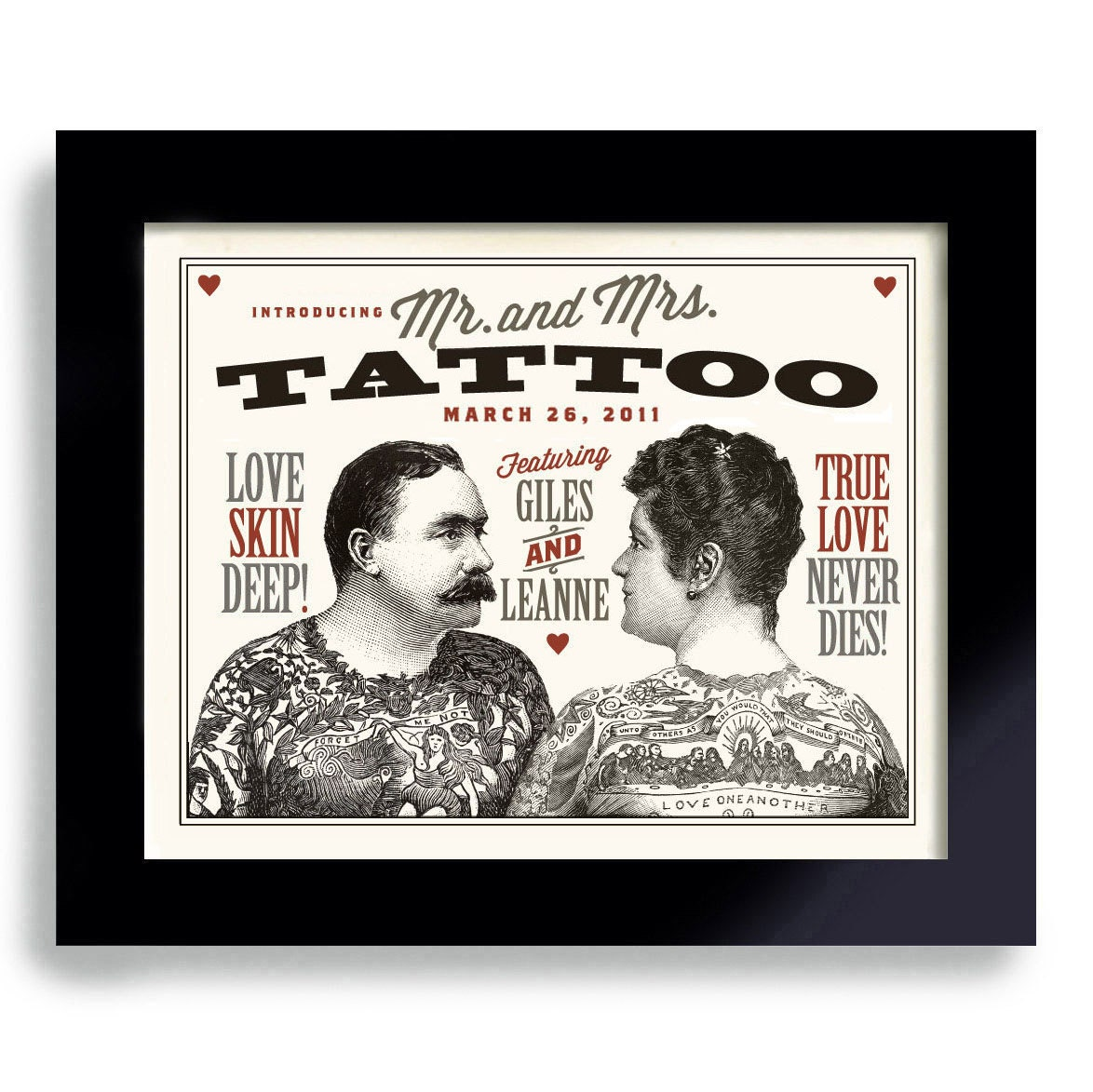 Tattoo wedding art for couple personalized unique by dexmex for Gifts for tattoo artist