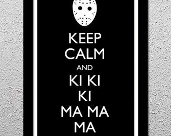Keep Calm - Friday 13th - Original Art Print - Poster - 13x19