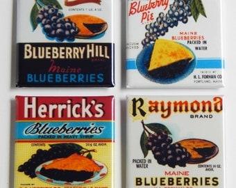 Blueberry Pie Fridge Magnet Set