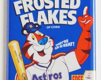 Houston Astros Cereal Box Fridge Magnet