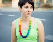 Colorful beaded necklace - Long colorful necklace