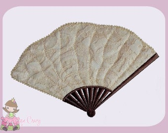 Victorian fan Applique design