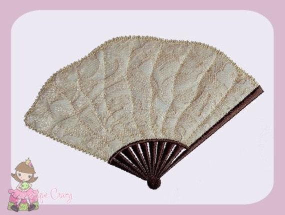 Victorian fan Applique design