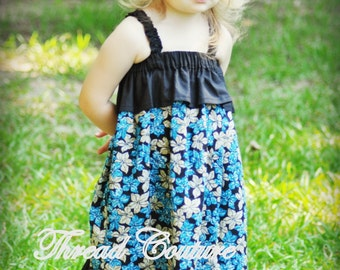 Sewing Pattern for Girls, INSTANT DOWNLOAD, Pdf Sewing Pattern, Chloe Ruffled Sundress