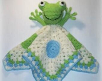Frog Lovey Crochet Pattern