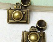 Camera Charms -10pcs Antique Bronze Camera Charms Pendant 21x25mm C509-6