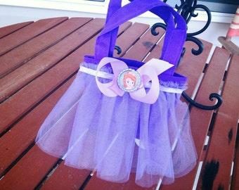 "Sofia the First Birthday Party Bags/Favor Bag/Totes Pascal Many available 4""x4"""