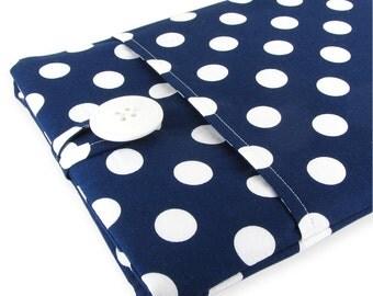 iPad Air 2 Case, iPad 2 Air Sleeve, iPad Case, iPad Sleeve, iPad 2 Case, iPad Pro Case, iPad Air Case, iPad Air Sleeve - Navy Polka Dots