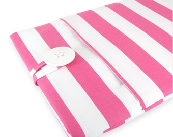MacBook Air Case, MacBook Air Sleeve, MacBook Air 13 Case, MacBook Air 13 Sleeve, 13 Inch MacBook Air Sleeve - Pink Stripe