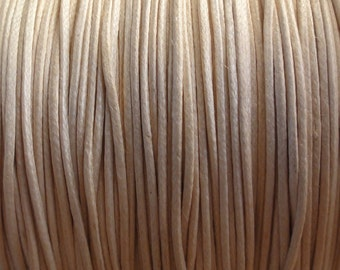 25 Meter Spool - 0.5mm Natural Waxed Cotton Cord
