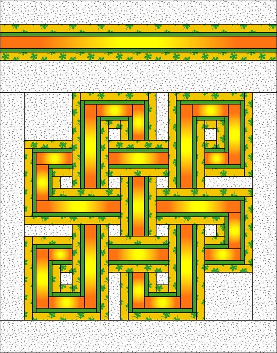 Celtic Knot Quilt Pattern Full/Queen Size Quilt Pattern