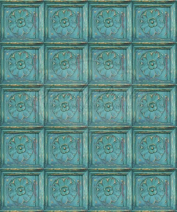 NEW ITEM 5ft x 6ft Vinyl Photography Backdrop / Mermaid Tiles