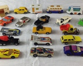 Lot of 25 Hot Wheels, Matchbox, Tomica, and ERTL toy cars