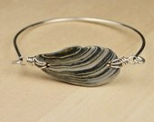 Custom Order- Shell and Sterling Silver Filled Wire Claps Bracelets