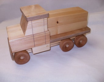 wood toy  truck lumber truck hand made wood toy  push toy