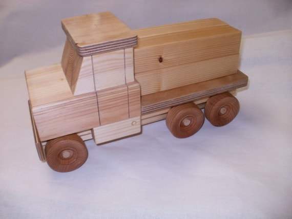 wood toy  truck luber lorry  push toy