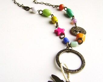 Bohemian boho hippie style Summer necklace.