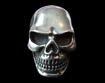 Stainless Steel Knuckle Paver Skull Ring - Free Re-Size/Shipping