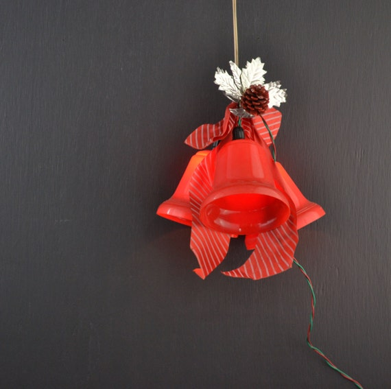 Noma Christmas Decorations: Red Bell Twinkling Lights Vintage Christmas Lights By KOLORIZE