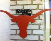 Texas Longhorn Wooden Door Hanger