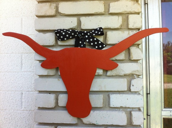 Texas Longhorn Wooden Door Hanger