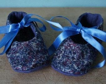 Liberty Fabric Baby Shoes Medium