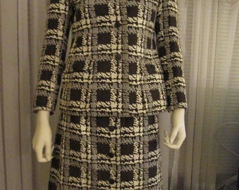 I.MAGNIN & C0. 1960's 2-Piece Abstract Suit