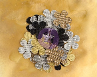 "SALE Prima Brillare Flowers ""Breezy"" (NEW 2014) - Textured Metallic Mulberry Paper Flowers - 24pcs - 575489"