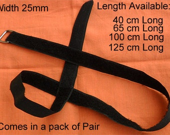 Velcro Adjustable Straps With Metal Buckle -Luggage Travel Strap 25mm width  x 125 cm length