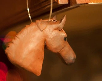 Handmade Custom Horse Ornament
