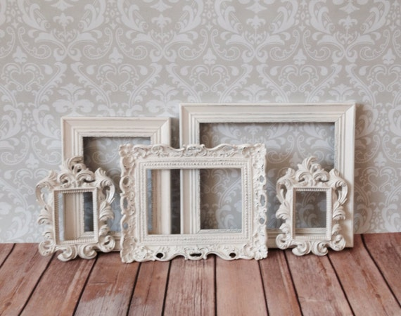 vintage style small picture frames shabby chic by vintageevents. Black Bedroom Furniture Sets. Home Design Ideas