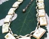 Coro Ivory Confetti Lucite Necklace