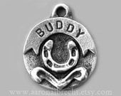 Pet Tag - Dog Identification Tag - Dog Tag - Pet ID Tag - Custom Pewter Horseshoe
