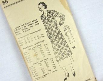 Vintage 20s Smock Sewing Pattern
