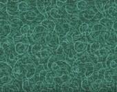 Scribble Time, Emerald Green Fabric, Green Fabric, 1 yard Fabric